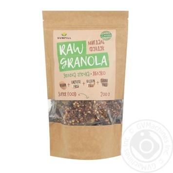 Гранола Sunfill Raw Granola Миндаль фундук 200г - купить, цены на Novus - фото 1