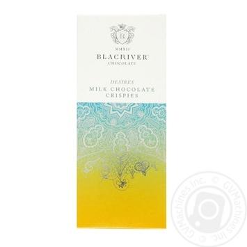 Шоколад Blacriver Crispies молочный с хрустящими хлопьями 85г - купить, цены на Novus - фото 1