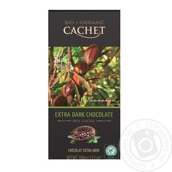 Шоколад экстрачерный Cachet органический 85% 100г - купить, цены на Novus - фото 1