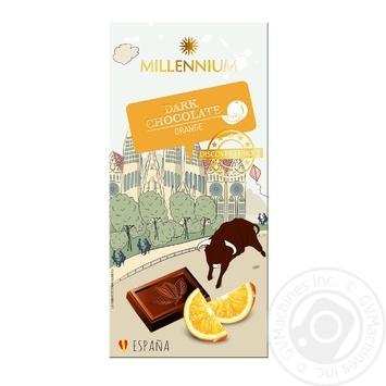 Millenium with orange chocolate black 74% 100g