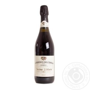 Cascina S. Maria Rosso Amabile Lambrusco dell'Emilia red semi-sweet sparkling wine 7,5% 0,75l - buy, prices for Novus - image 1