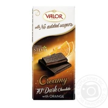 Шоколад черный Valor с апельсиновой начинкой 100г