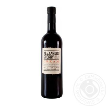 Вино Alexsandro Sherry Cream Херес белое сладкое 18% 0,75л