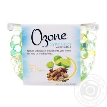 Кристаллический освежитель воздуха Ozone Crystal Beads на основе геля лайм и гвоздика 150г - купить, цены на Novus - фото 1