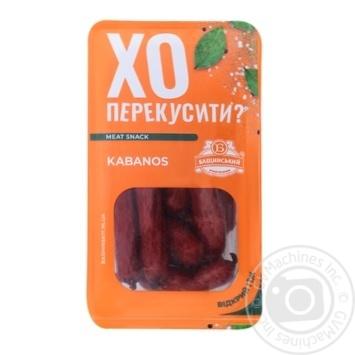 Колбаски Бащинский Kabanos полукопченые 1/с 100г - купить, цены на Novus - фото 1