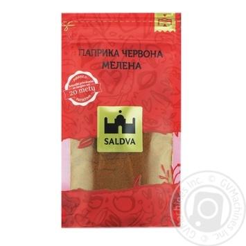 Паприка красная молотая Saldva 25г - купить, цены на Novus - фото 1