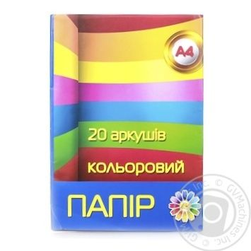 Бумага Тетрада цветная A4 20л - купить, цены на Novus - фото 1