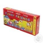 Фарби Гамма Funny Friends гуашеві 10 кольорів