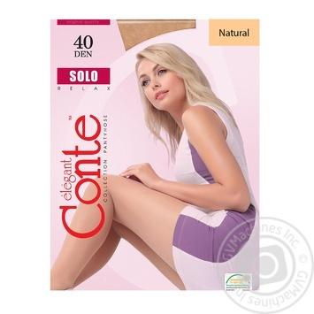 Колготи жiночi Solo Conte 40 розмiр 6 natural - купить, цены на Novus - фото 1