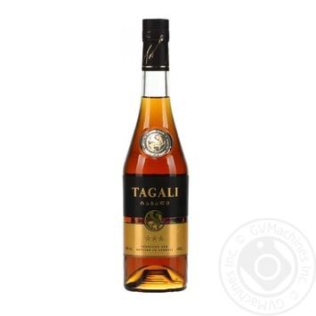 Напиток алкогольный Tagali оригинальный 3 звезды 40% 0,5л - купить, цены на Ашан - фото 1