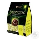 Конфеты Vergani Limoncello с кремовой начинкой из ликера в темном шоколаде 200г