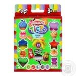 Набір креативної творчості Тесто для ліпки 12 кольорів Danko toys