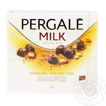 Ассорти конфет Pergale Milk Caramel Collection 126г