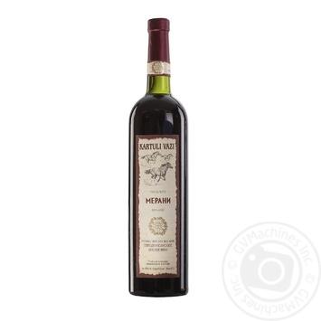 Вино Kartuli Vazi Мерани красное полусухое 11% 0,75л - купить, цены на СитиМаркет - фото 1