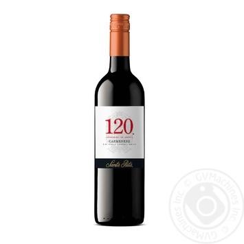 Вино Santa Rita 120 Carmenere красное сухое 13% 0,75л