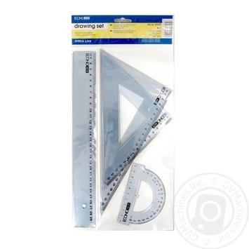 Чертежный набор Economix E81305 4предмета - купить, цены на Таврия В - фото 1