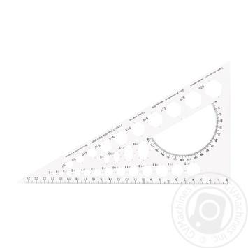 Треугольник Economix с шелкографией белый 25см