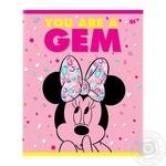 Зошит шкільний ТМ YES 12 аркушів лінія Minnie Mouse neon