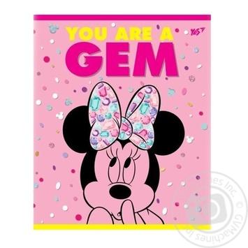 Тетрадь YES Minnie Mouse neon школьный в линию 12 листов