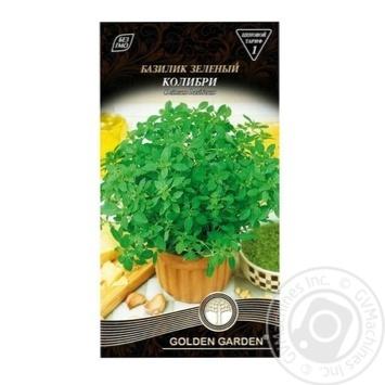 Семена Golden Garden Базилик зеленый Колибри 0,5г