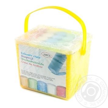 Набір кольорової крейди Koopman у відерці 20шт