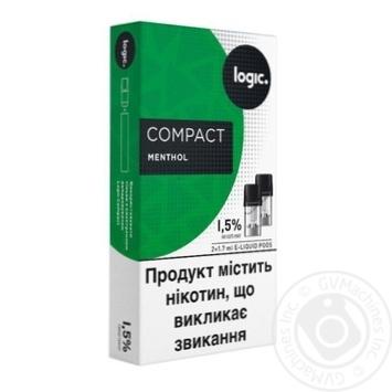 Картриджи Logic Compact Menthol 1,5% 2шт
