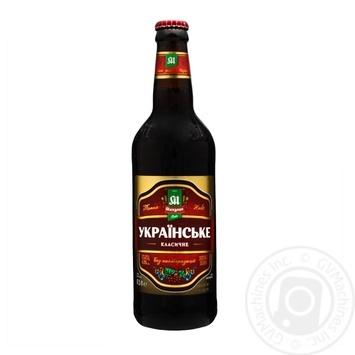 Пиво Микулин Українське темне 4,3% 0,5l - купити, ціни на Ашан - фото 1