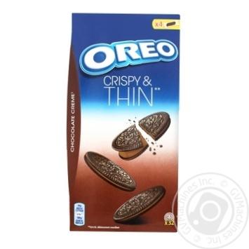 Печенье Oreo тонкое с какао и начинкой какао 192г - купить, цены на МегаМаркет - фото 1