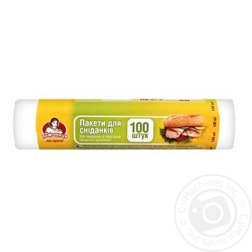 Пакети для сніданку Помічниця 100шт - купити, ціни на Ашан - фото 1