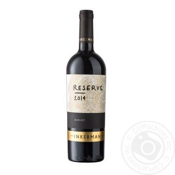 Вино Inkerman Reserve Мерло красное сухое 10-14% 0,75л - купить, цены на Novus - фото 1