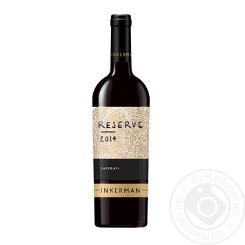 Вино Inkerman Reserve Сапераві червоне сухе 10-14% 0,75л - купити, ціни на Novus - фото 1