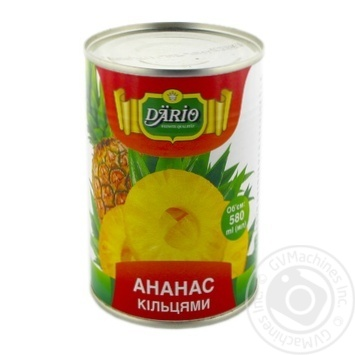 Dario In Syrop Pineapples Rings Can 580ml - buy, prices for Novus - image 1