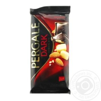 Шоколад чорний Pergale з марципановою начинкою 100г - купити, ціни на Novus - фото 1