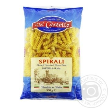 Del Castello Spiral Pasta 500g - buy, prices for CityMarket - photo 1