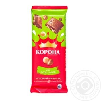 Korona Milk Chocolate With Whole Hazelnuts - buy, prices for Novus - image 1
