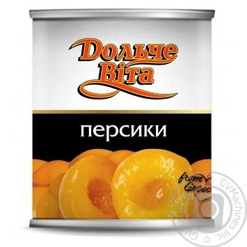 Персики Дольче Вита половинки 820г - купить, цены на Novus - фото 1