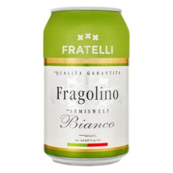 Fratelli fragolino White Semi-Sweet Sparkling Wine 9.5-13% 0.33L - buy, prices for Furshet - image 1