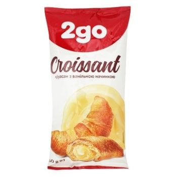 2go with Vanilla Filling Croissant 60g - buy, prices for Auchan - photo 1