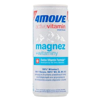 Напиток 4Move изотонический с добавлением витаминов и магния 0,25л
