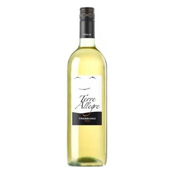 Вино Terre Allegre Trebbiano белое сухое 11% 0.75л - купить, цены на Novus - фото 1