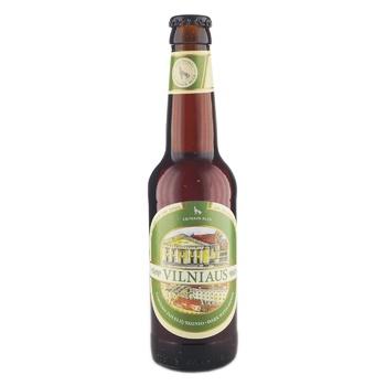 Пиво Vilniaus Alus Dark with Herbs темное с травами 5,6% 0,33л