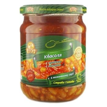 Квасоля Rio З грибами та овочами в томатному соусі 480г - купити, ціни на CітіМаркет - фото 1