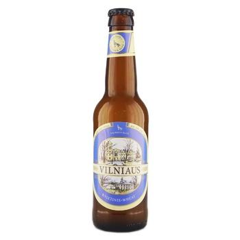 Пиво Vilniaus Alus Wheat светлое пшеничное нефильтрованное 5% 0,33л