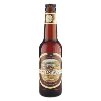 Пиво Вильнюс Алус темное пастеризованное стеклянная бутылка 5.6%об. 330мл Литва