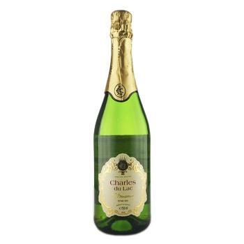 Вино ігристе Charles du Lac Demi Sec Blanc біле напівсухе 8,4% 0,75л