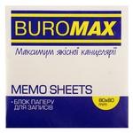 Блок бумаги BuroМax Радуга для заметок 80х80мм 400 листов