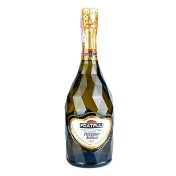 Вино слабогазированное Fratelli Frizzante Brilliant полусладкое белое 9-13% 0,75л - купить, цены на Таврия В - фото 1