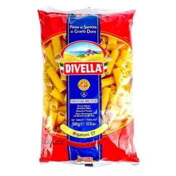 Макаронные изделия Divella Rigatoni №17 500г - купить, цены на Novus - фото 1