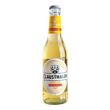 Пиво Clausthaler Lemon светлое безалкогольное 0% 0,33л - купить, цены на МегаМаркет - фото 1