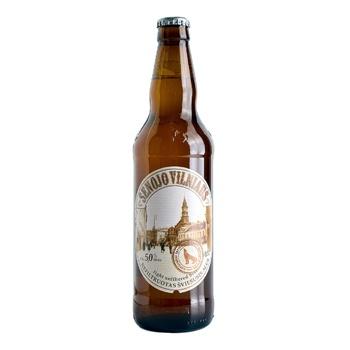 Пиво Senojo Vilniaus Light Unfiltered светлое нефильтрованное 5% 0,5l